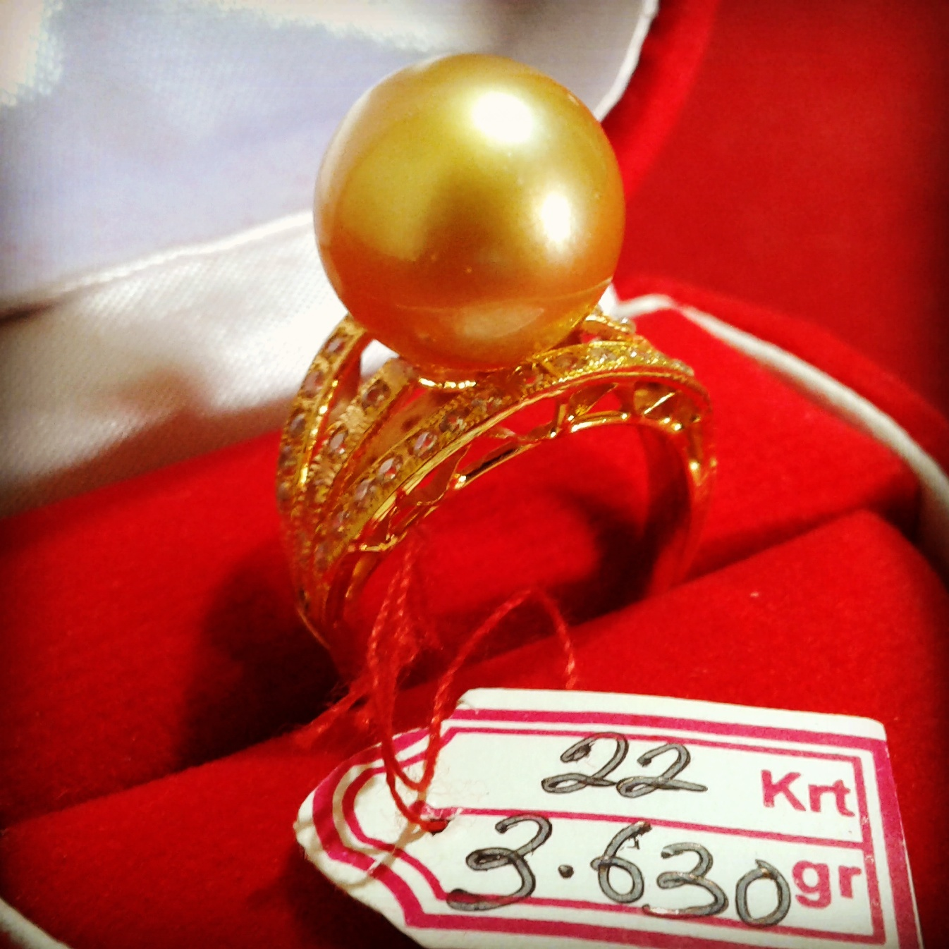 Handmade Gold Pearl Ring (CEZ-08)